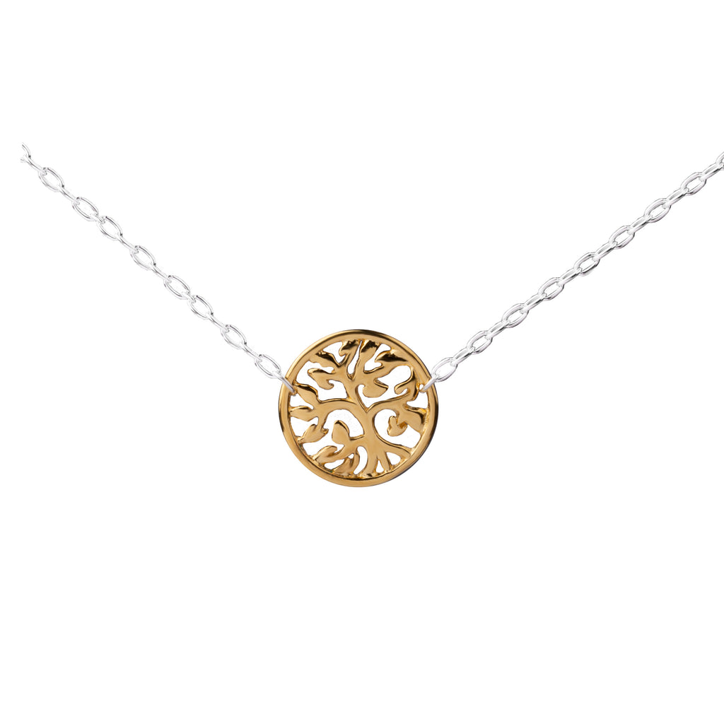 Tree of Life Connector | Little Layer Necklace | Gold