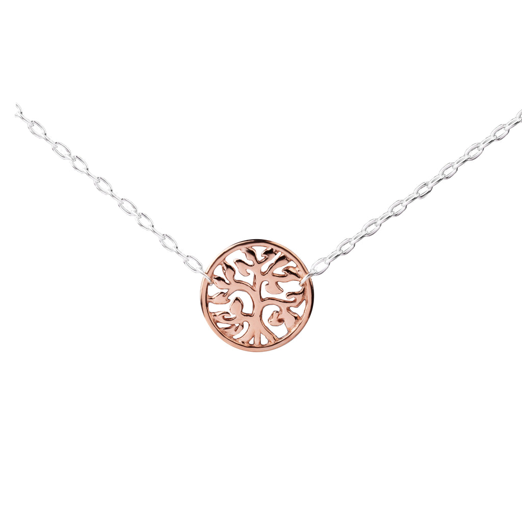Tree of Life Connector | Little Layer Necklace | Rose Gold