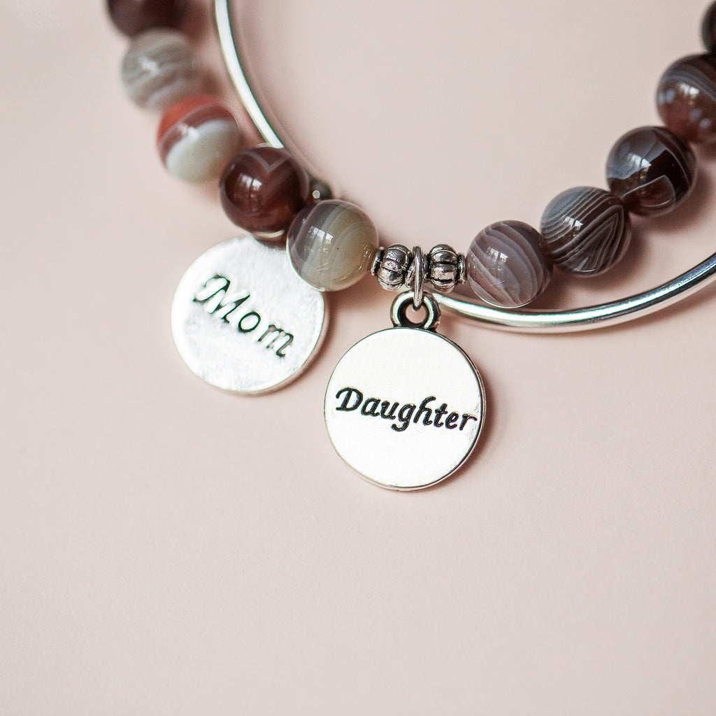 Soft Bangle Charm Bracelet | Daughter | Amazonite