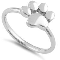 Ring | Paw Print | Sterling Silver