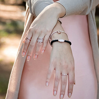 Ring - CZ Stacker |  Rose gold