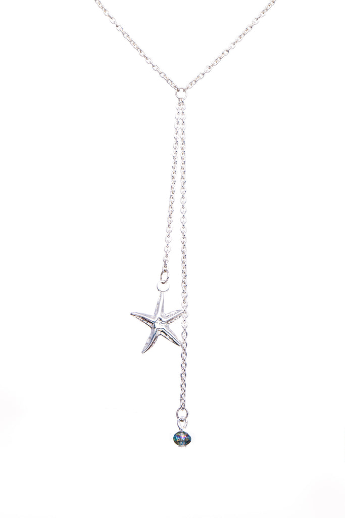 Sterling Silver Y Shape Necklace | Starfish