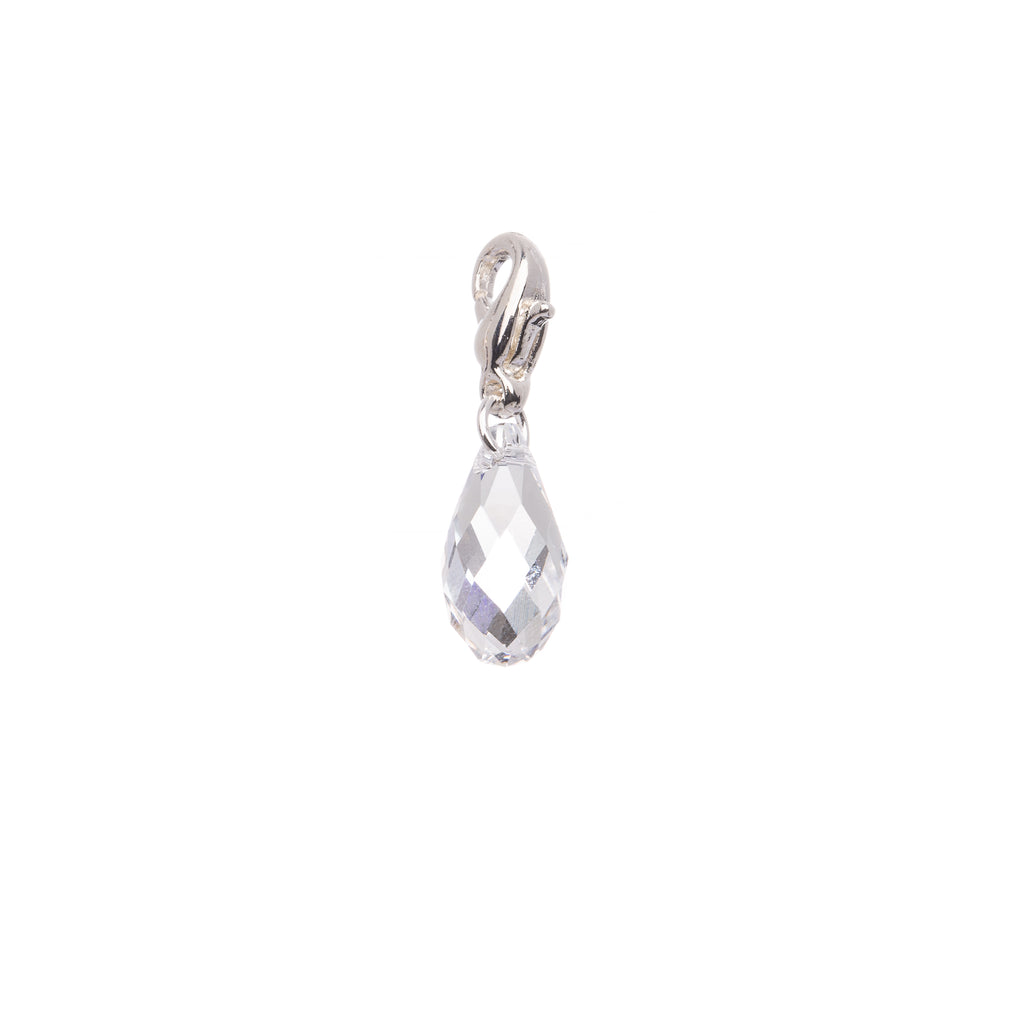 Clear Crystal Swarovski  Briolette - Charm - Purity