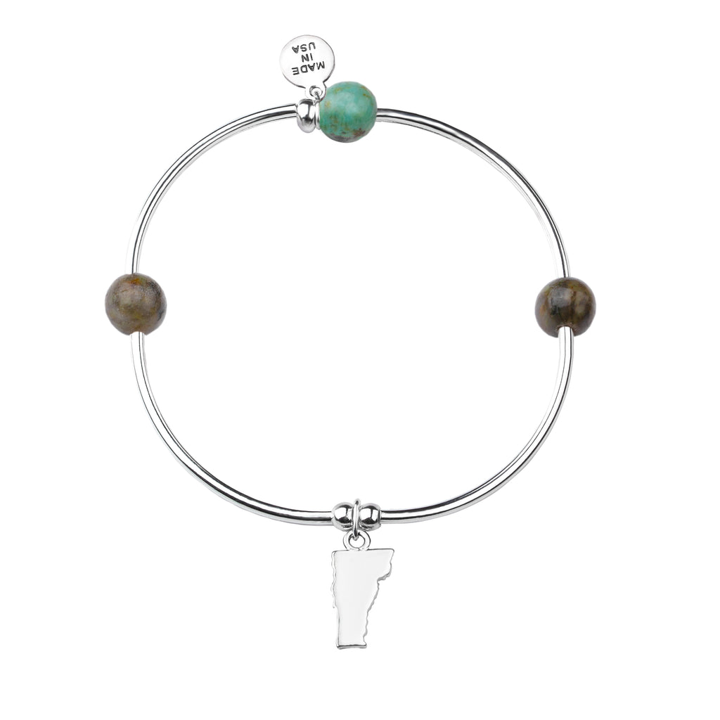 Vermont | Bangle Charm Bracelet | African Turquoise-Prosperity