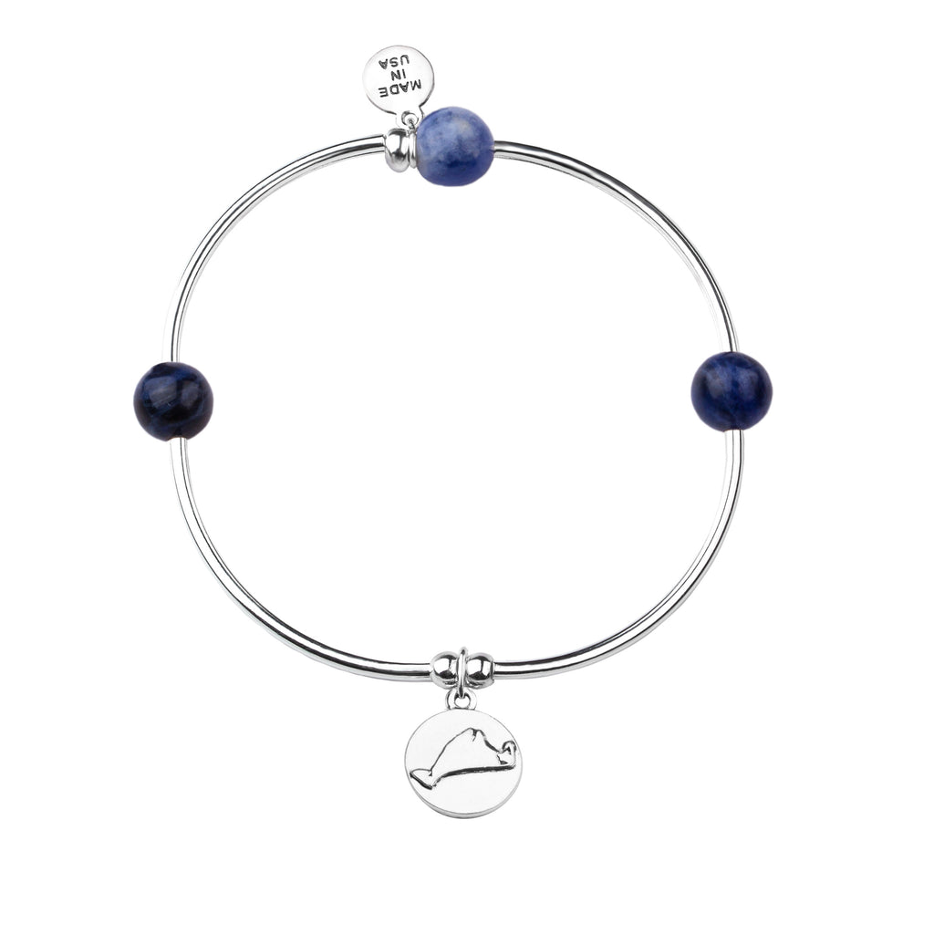 Martha's Vineyard | Bangle Charm Bracelet | Sodalite - Inner Peace