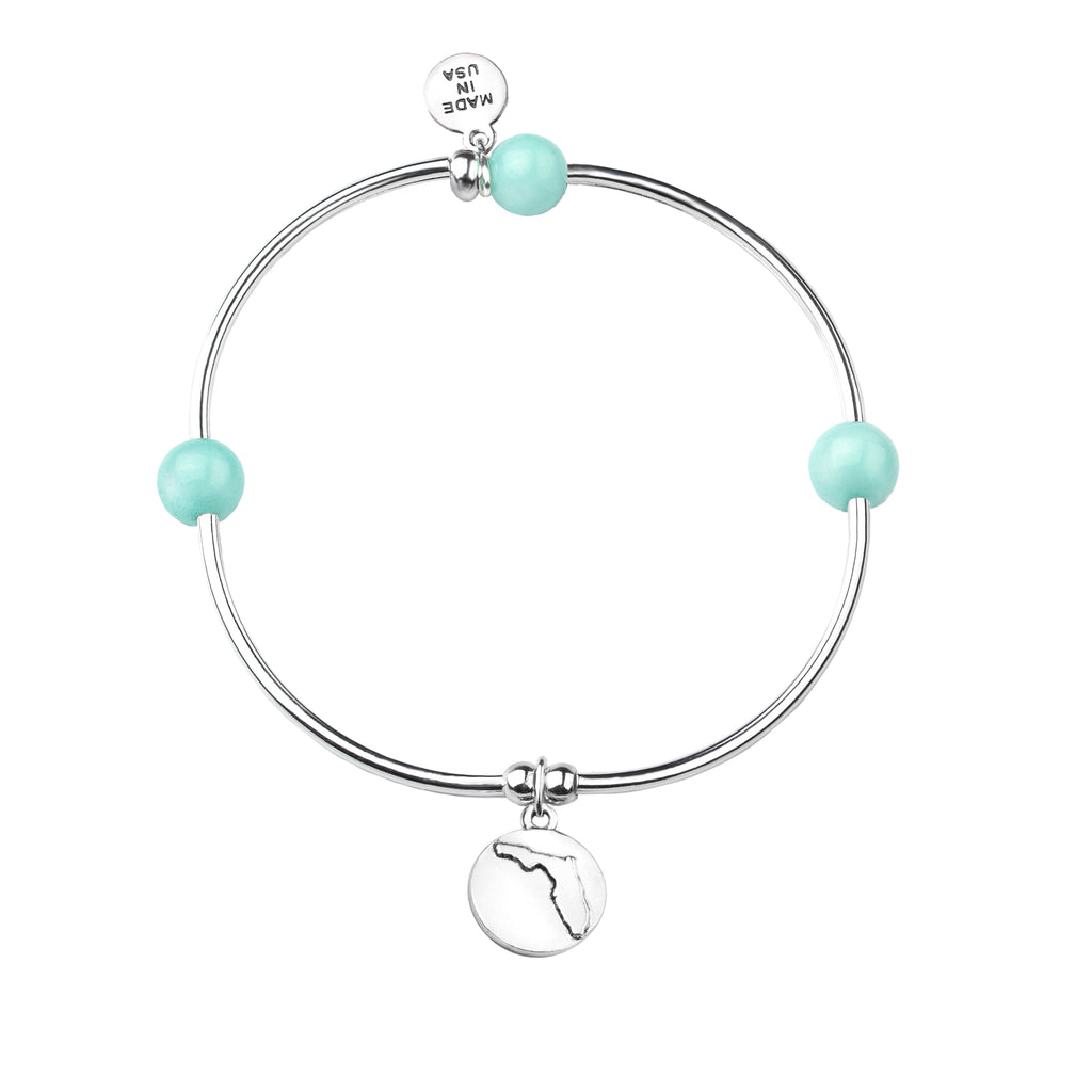 Florida | Bangle Charm Bracelet | Tiffany Blue - Serenity