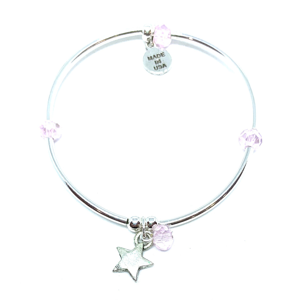 Star | Soft Bangle Charm Bracelet | Kids | Blush