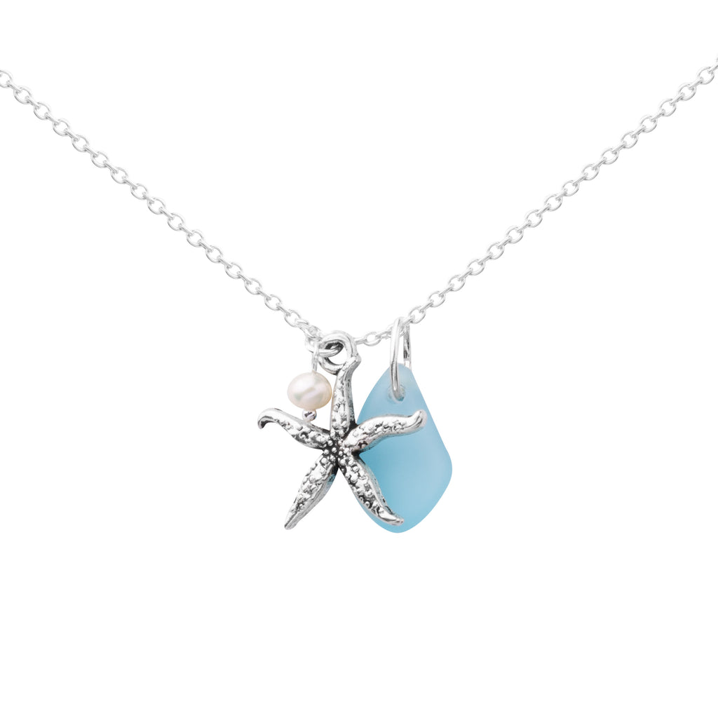 Cluster Necklace - Sea Glass | Starfish