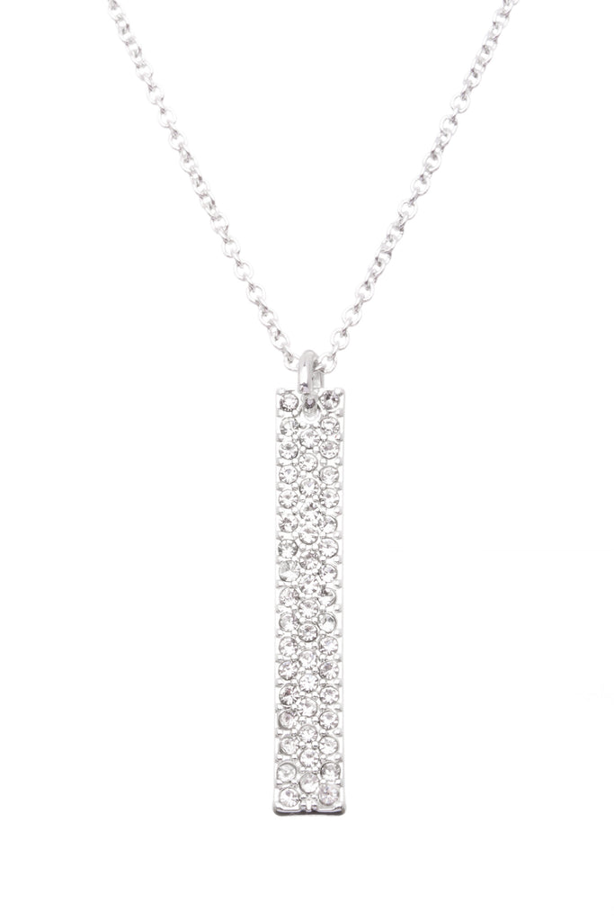 Pave Bar  | Little Layer Necklace | Silver