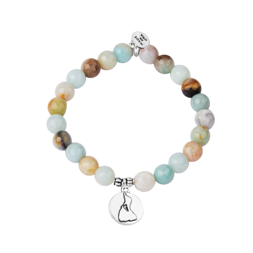 Stone Beaded Charm Bracelet | Block Island | Amazonite