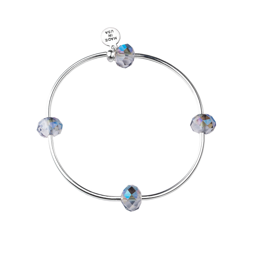Wish | Bracelet | Blue Silver - Crystal