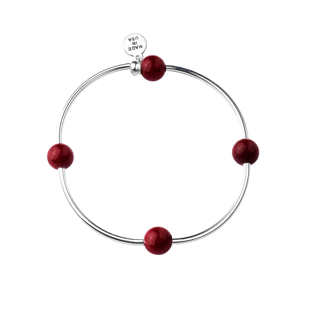 Wish | Bracelet | Bordeaux - Stone
