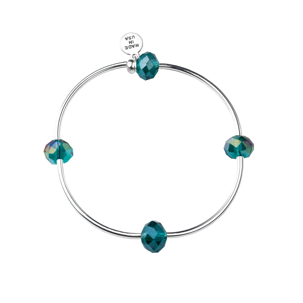 Wish | Bracelet | Emerald - Crystal