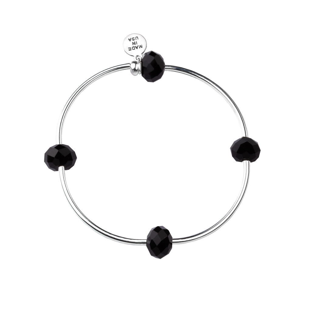 Wish | Bracelet | Jet Black - Crystal