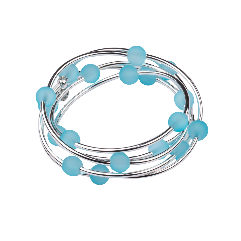 Wrap | Sea Glass | Necklace-Bracelet | Aquamarine