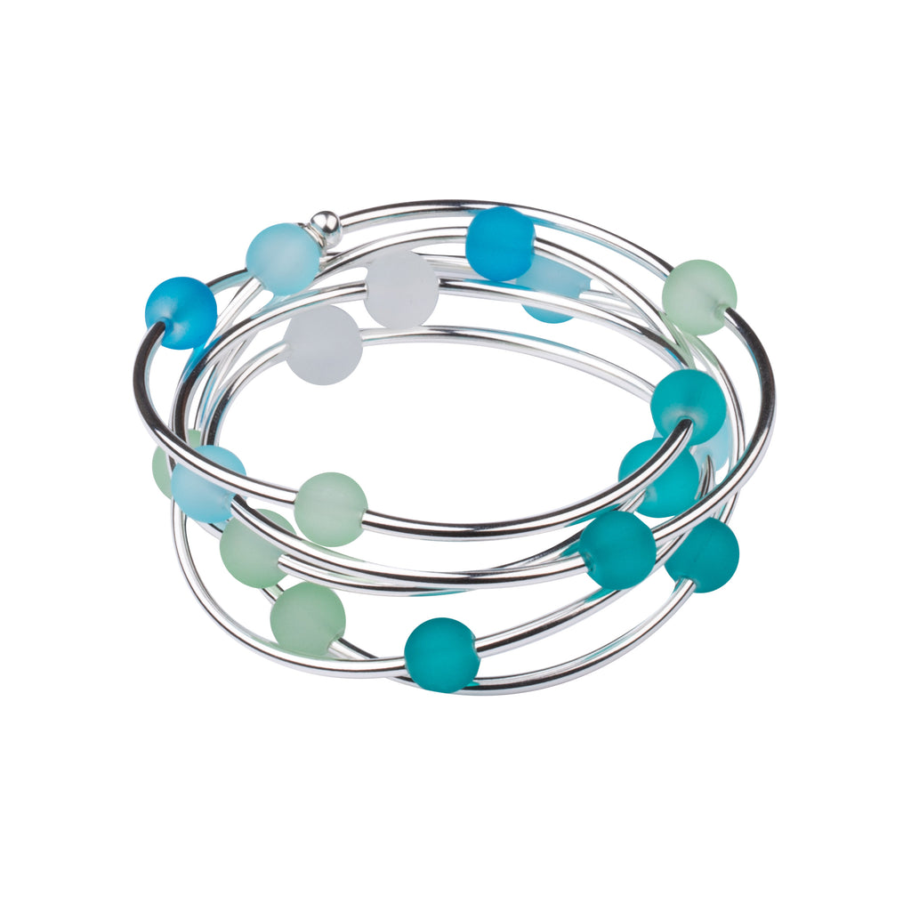 Wrap | Sea Glass | Necklace-Bracelet| Coastal Mix