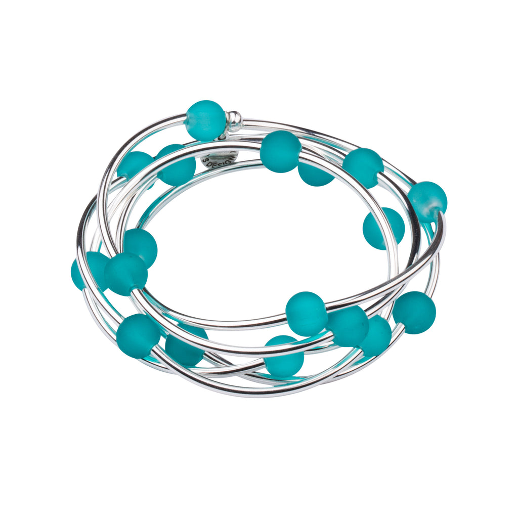 Wrap-Sea Glass |Necklace-Bracelet | Mediterranean Blue