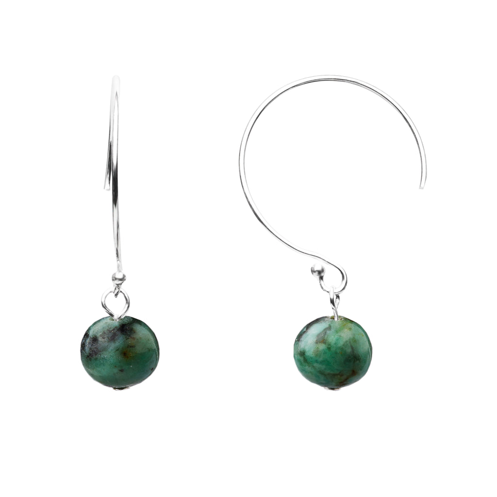 Earring | Curved Loop | African Turquoise