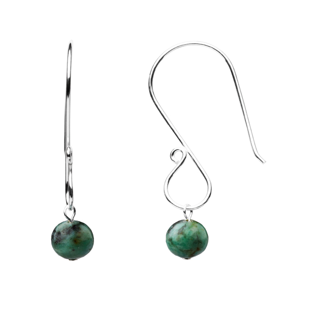 Earring | S Loop | African Turquoise