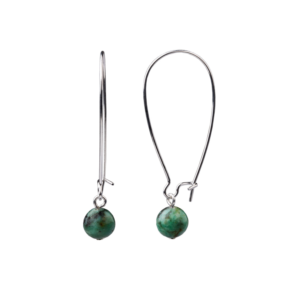 Earring | Kidney Wire - Large  | African Turquoise