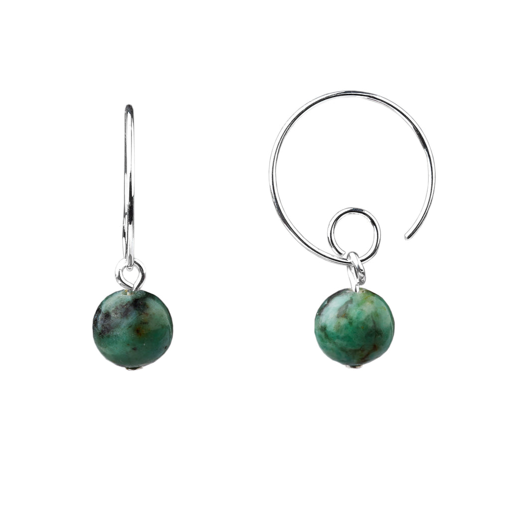 Earring | Open Loop | African Turquoise