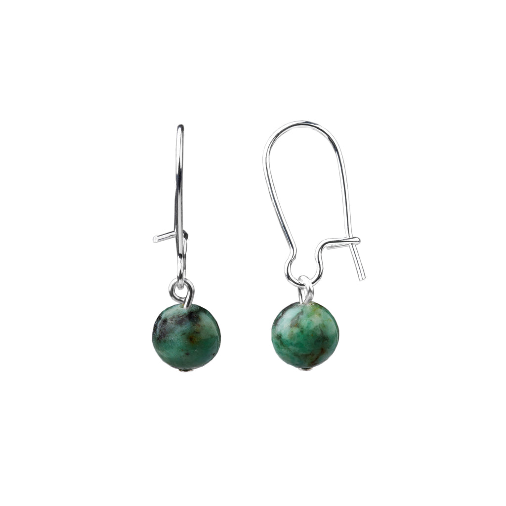 Earring | Kidney Wire - Small  | African Turquoise