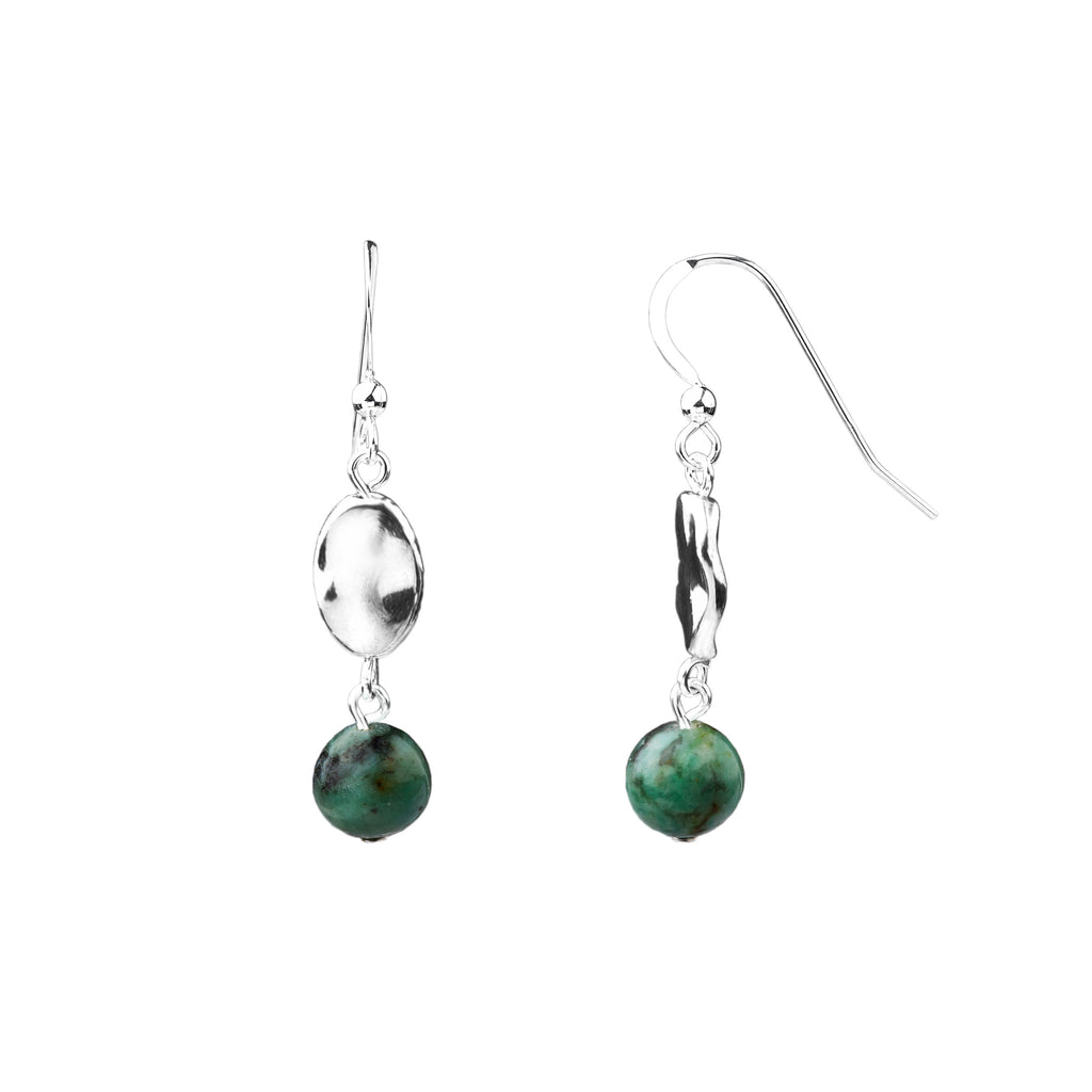 Earring | Hammered | African Turquoise