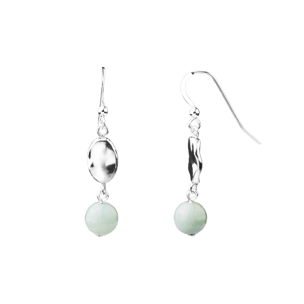 Earring | Hammered | Amazonite