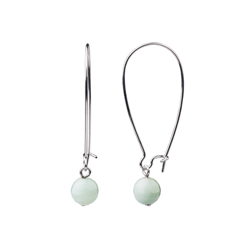 Earring | Kidney Wire - Large  | Amazonite