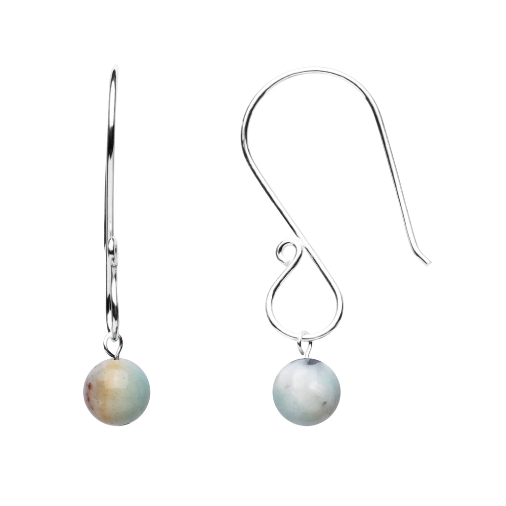Earring | S Loop | Amazonite