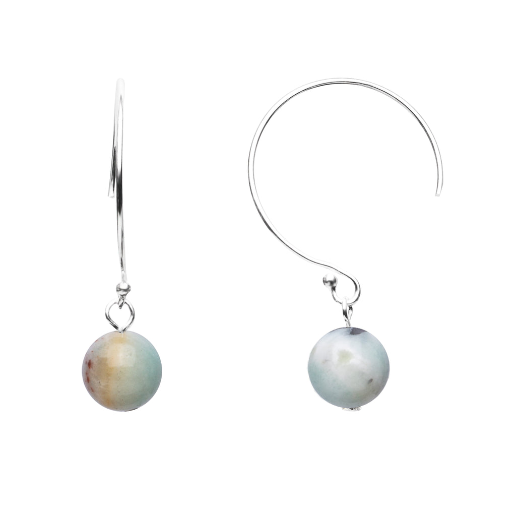 Earring | Curved Loop | Amazonite