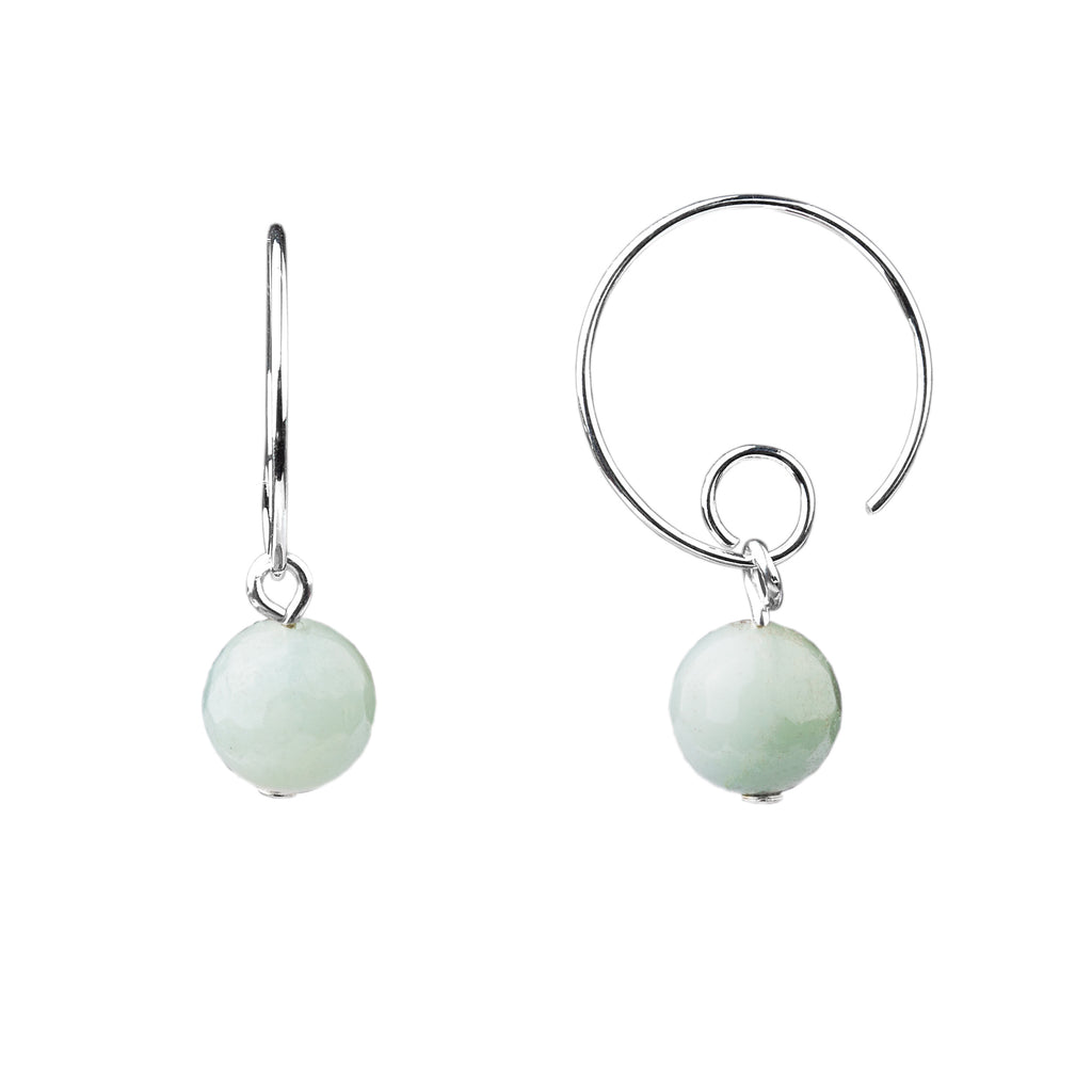 Earring | Open Loop | Amazonite