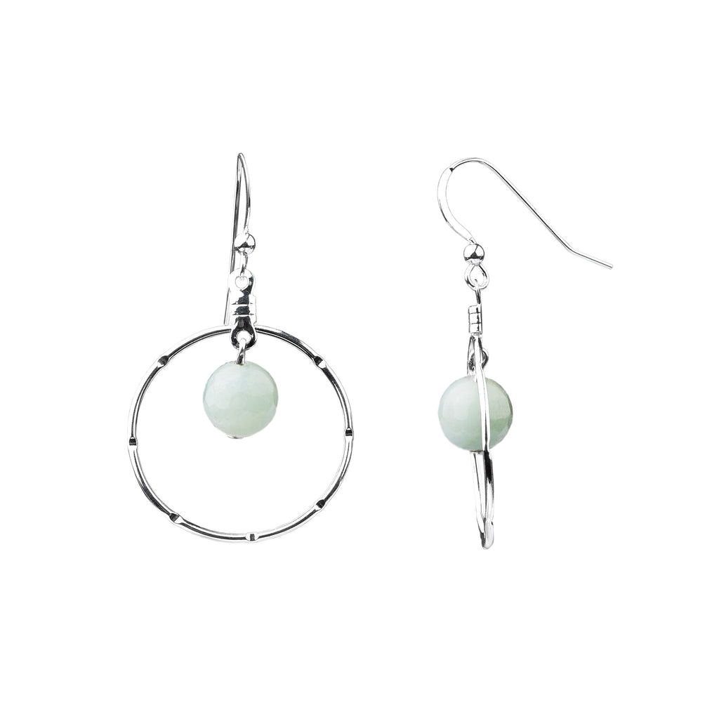 Earring | Notched Hoop | Amazonite