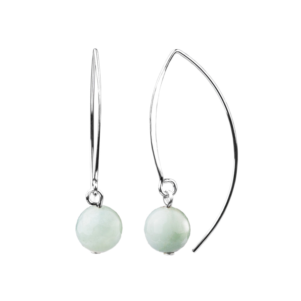 Earring | V Wire - Large  | Amazonite