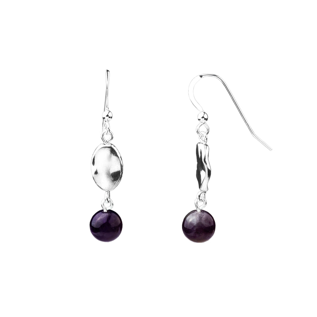 Earring | Hammered | Amethyst