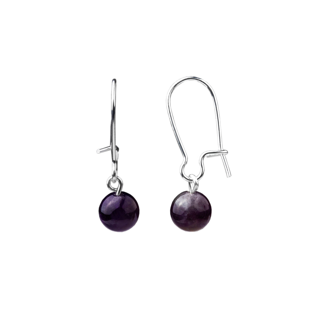 Earring | Kidney Wire - Small  | Amethyst