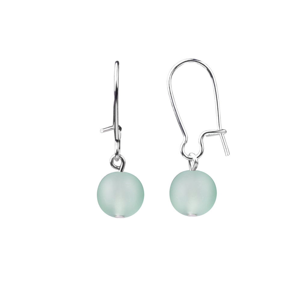 Earring | Kidney Wire - Small  | Sea Glass-Sea Foam Green