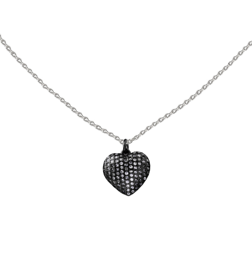 Heart | Little Layer Necklace | Sterling Silver - Pave
