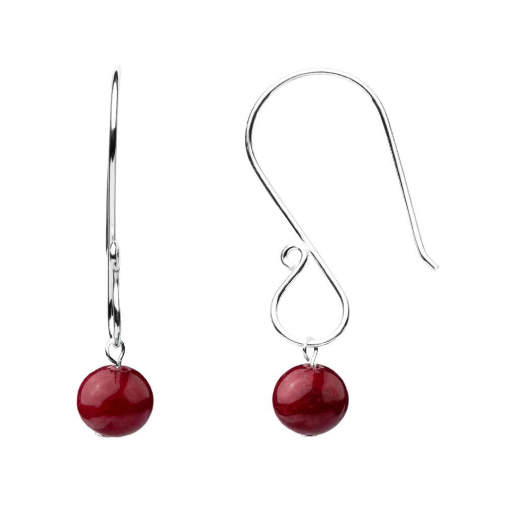 Earring | S Loop | Bordeaux Jade