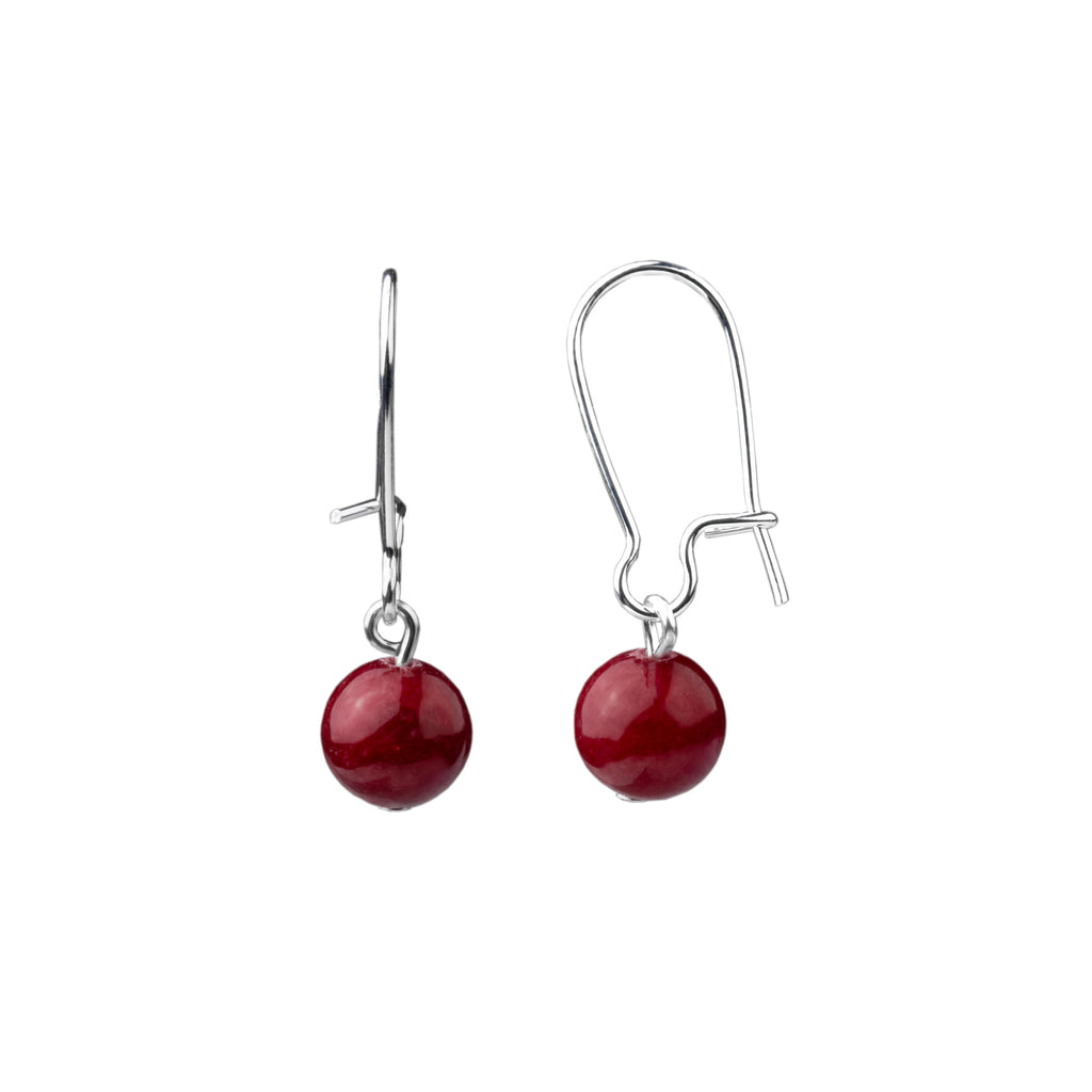 Earring | Kidney Wire - Small  | Bordeaux Jade
