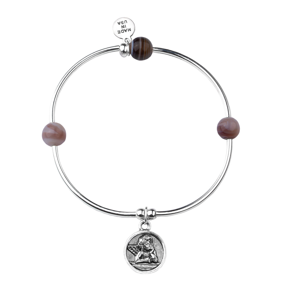 Cherub | Soft Bangle Charm Bracelet | Botswana