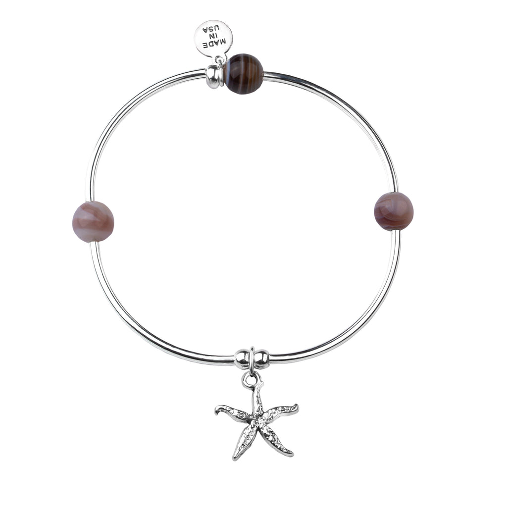 Starfish | Soft Bangle Charm Bracelet | Botswana