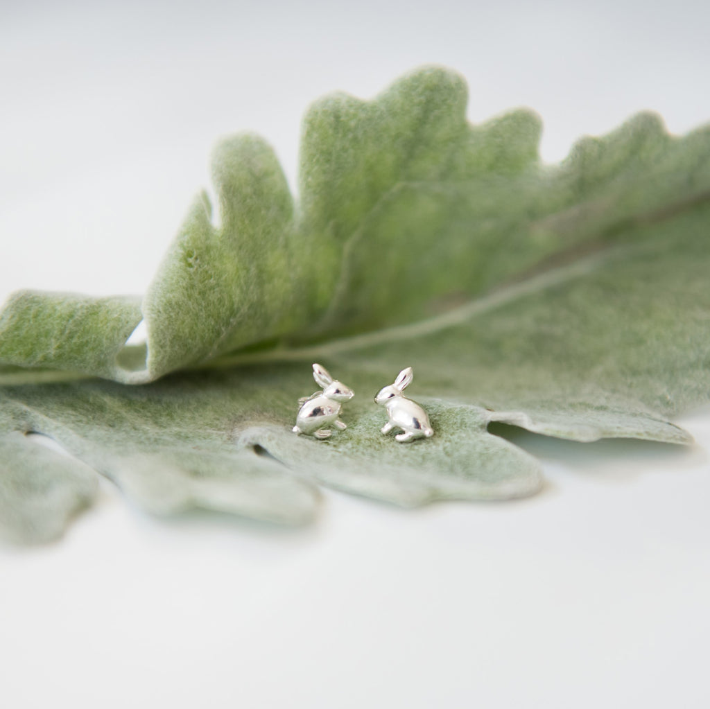 Bunny | Mini Post Earring- Sterling Silver