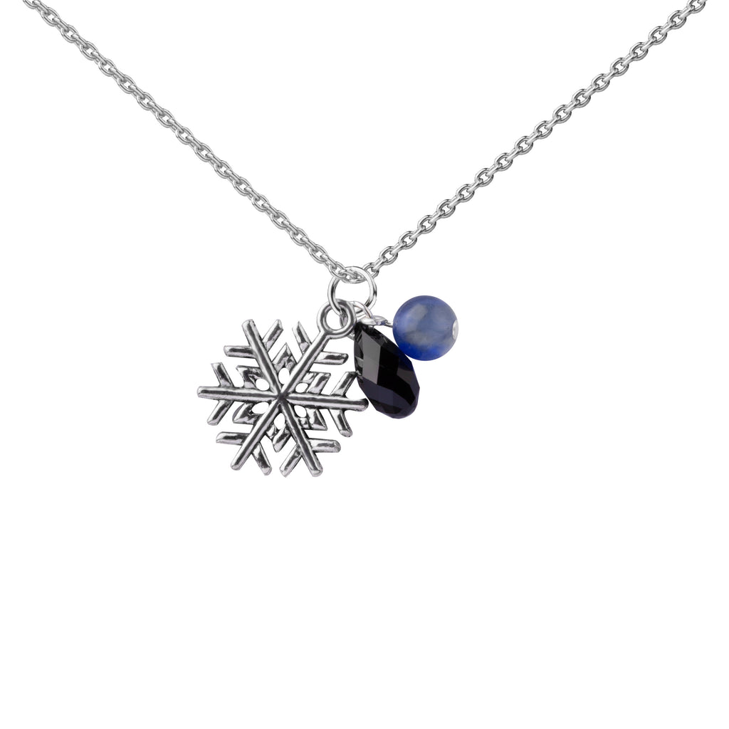 Snowflake | Cluster Necklace | Sterling Silver
