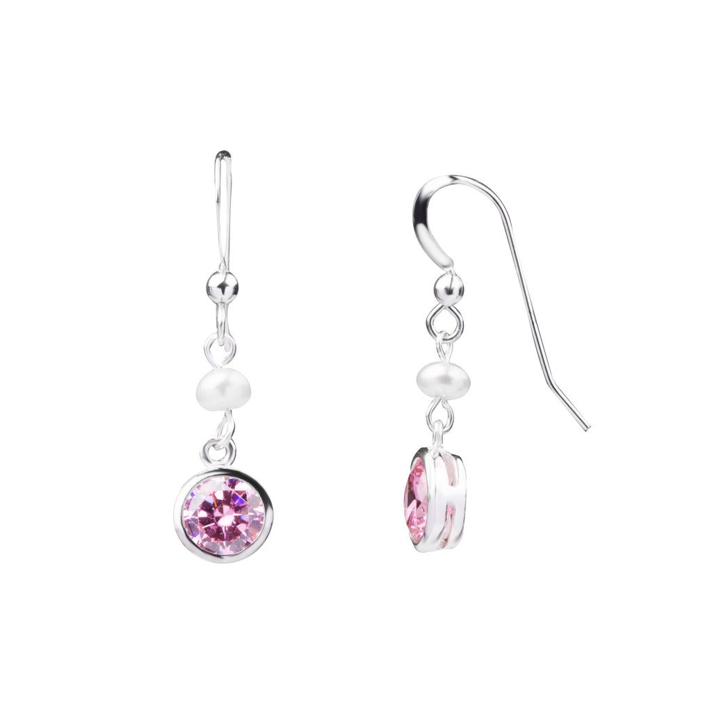 Birthstone | Earring | October - Rose - Confidence