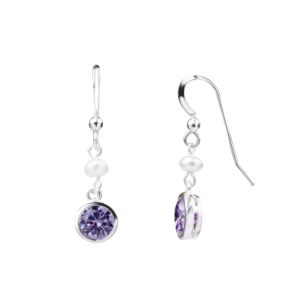 Birthstone | Earring | June - Light Amethyst - Compassion