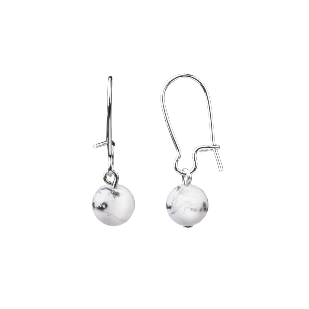 Earring | Kidney Wire - Small  | Howlite