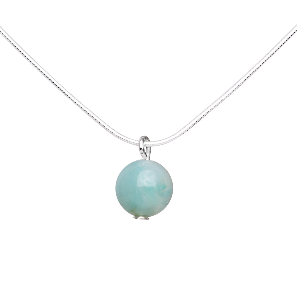Necklace Stone Pendant | Amazonite
