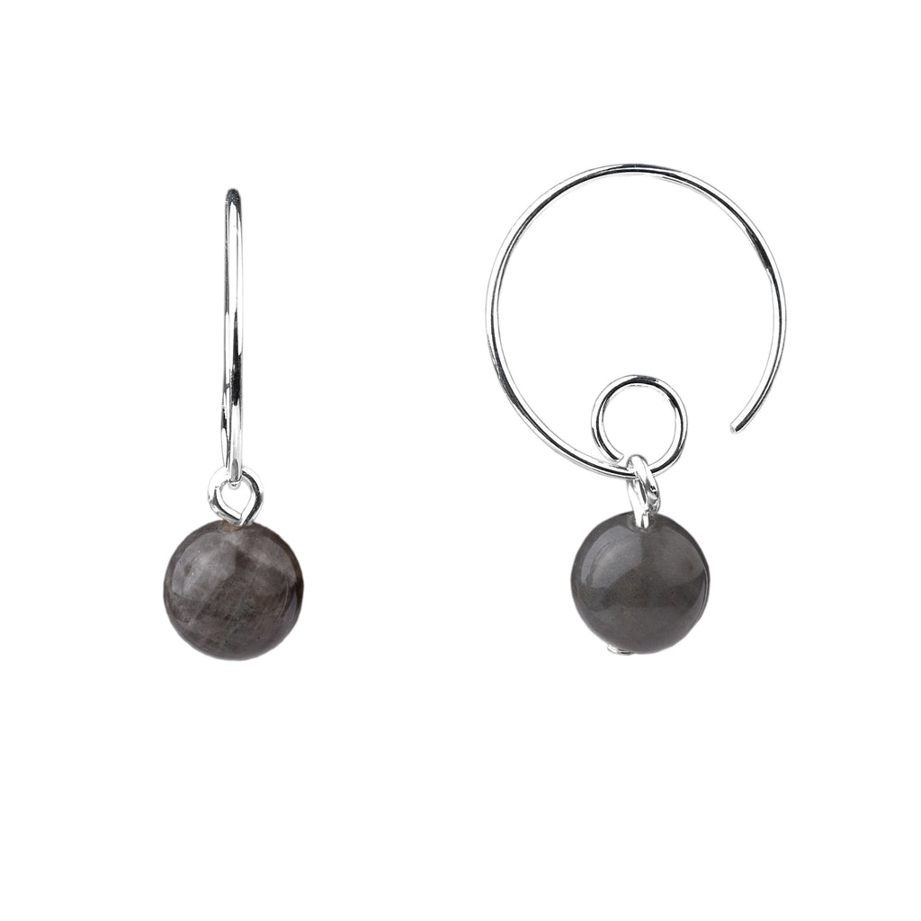 Earring | Open Loop | Labradorite