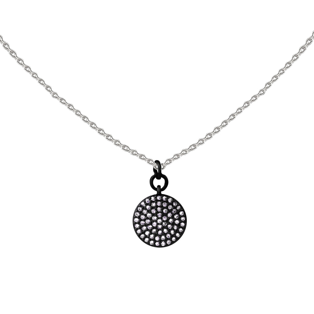 Coin | Little Layer Necklace | Sterling Silver - Gunmetal